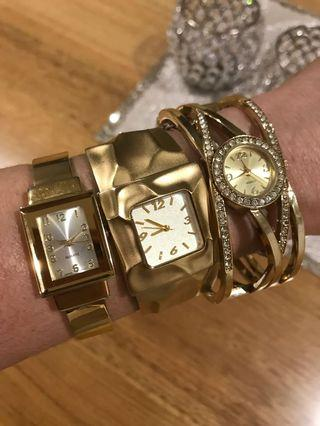 Gold Plated Watches ♦️Need New Batteries ♦️
