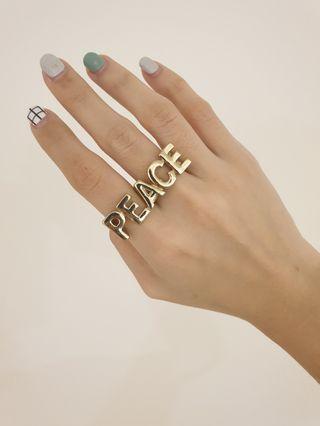 PEACE 2 finger ring