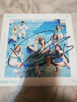 Twice Page Two 簽名專輯- 多賢親簽