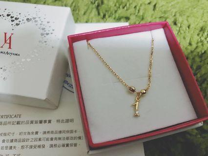 日本vendome Aiyana 二手輕珠寶頸項鍊