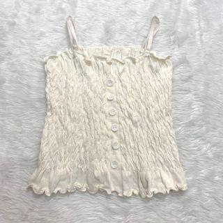 white sleeveless top brand new