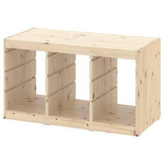IKEA TROFAST toy storage Frame, light white stained pine