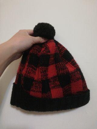 毛帽 黑紅