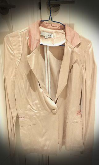 Light pink silk blazer