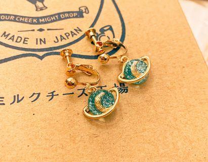 (Free shipping) 日韓星球耳環耳夾 earrings