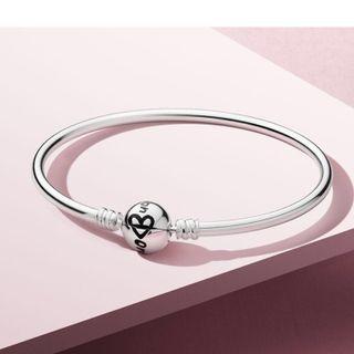 Pandora 手鐲 ~ silver bangle 17cm
