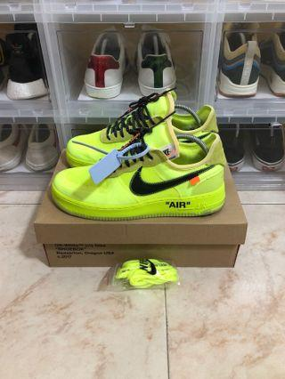 Nike Off White Air Force 1 Volt US9.5