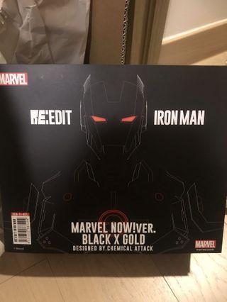 全新日版 千值練 SENTINEL RE EDIT 06 IRONMAN BLACK X GOLD IRON MAN MARVEL NOW