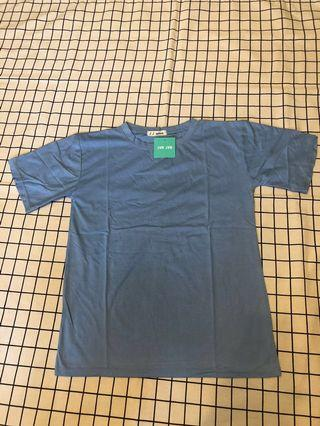 🚚 短袖素T恤-淡藍色