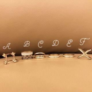 Lovisa Rose Gold Rings Size M-L
