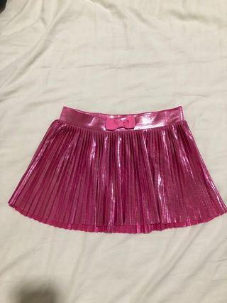H&M pleated glitter skirt