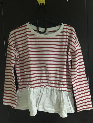 Stripes Peplum Sweater
