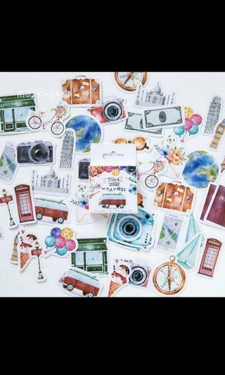 45 pcs Travel stickers