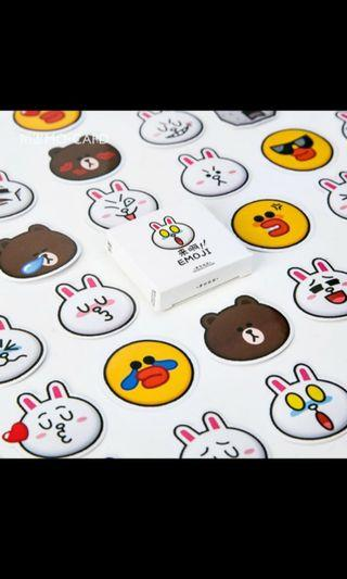 45 pcs Emoji stickers