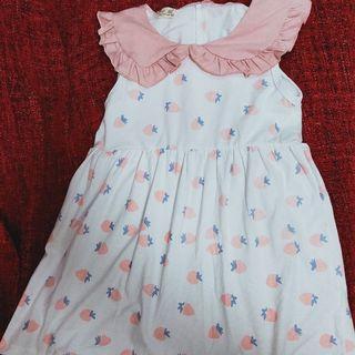 🚚 全新女童🍓草莓洋裝15碼約6.7歲