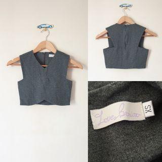 Love bonito grey crop top