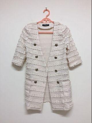 🚚 全新 專櫃蕾絲長版外套