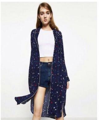 Zara Floral Pajama Jacket