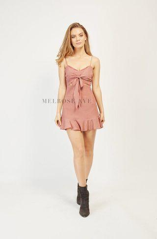 BNWT Baby Pink Mini Dress with Front Tie detail