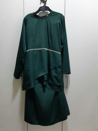 Emerald Green Kurung