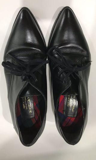 Comme des garcons Junya watanabe point-toe lace-up Oxford shoes loafers flats plays