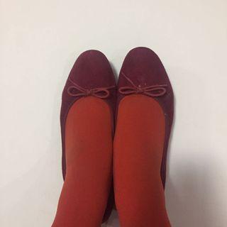 Muji red ballerina flats 紅色平底鞋