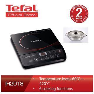 TEFAL IH2018 Induction Hob Ceramic Coated Cooking Plate, Black  TEFAL IH2018 Induction Hob Ceramic Coated