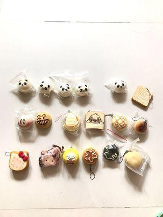 SALE: assorted food/ mini Squishies