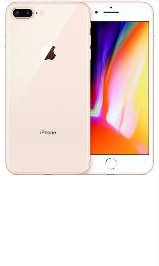 256gb gold iPhone 8 Plus with box and accessories
