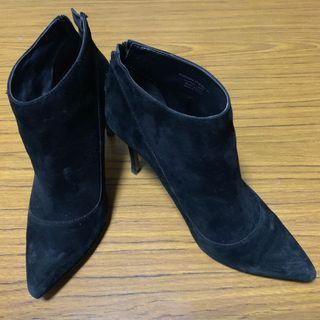 Corset Detail Suede Ankle Boots