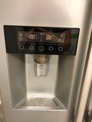 LG Side by side pipe water ice dispenser fridge