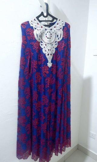 Kaftan long dress blue