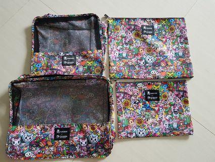 🚚 (BNIP) Tokidoki × Changi 4in1 Packing Cubes/Luggage Organiser