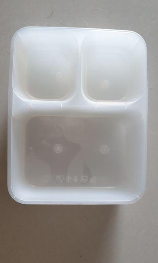 Plastic Containers for Prep Meals - 3 compartments