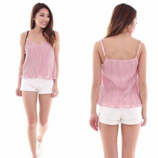 🚚 Pleated cami top in PINK