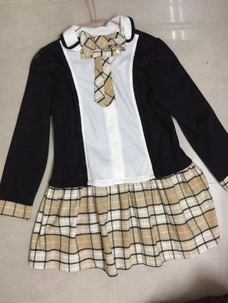 甜美格紋襯衫洋裝