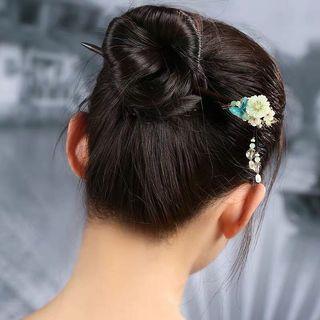 預購「中國風馨香花朵蝴蝶氣質髮簪簪子」