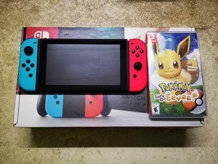 Nintendo Switch with Pokemon
