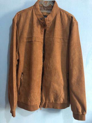 Suede jacket man