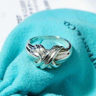 Tiffany 絕版繩結戒指 純銀