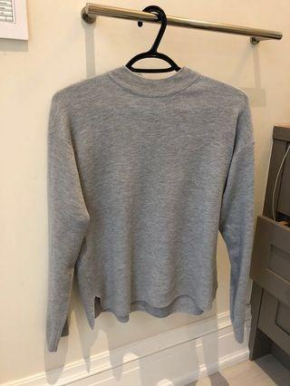 Adorable oak and fort mock neck light sweater light grey size S