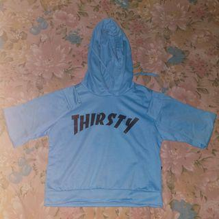 Hoodie Blue Crop