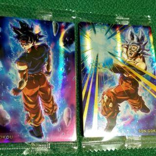 全新二張 SR餅卡 Dragon Ball Unlimited 3 孫悟空 身勝手自在極意 兆 銀髮 Son Gokou 非 Broly Gogeta 龍珠超咭