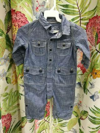 Baby denim rompers 3/6mnt