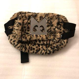 mini cream bum waist bag crossbody leopard