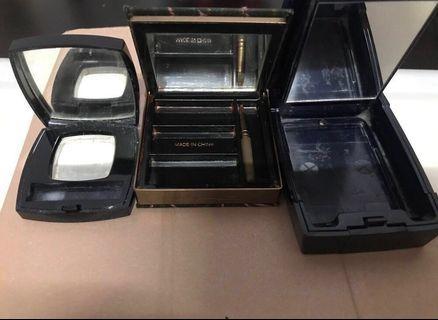Chanel.dior . Mac empty case