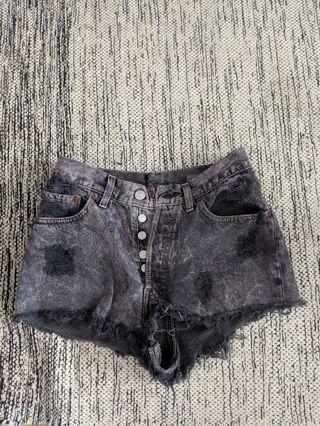Levi's vintage purple denim shorts