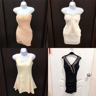 (二手.免運費.4件合售)禮服 洋裝