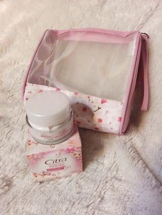#bapau citra sakura fair uv powder cream plus pouch