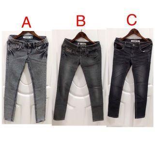 (二手.3件合售)牛仔長褲 牛仔褲